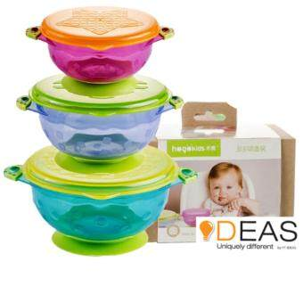 (Ready Stock) 3 pcs Suction Baby Bowls with Lids