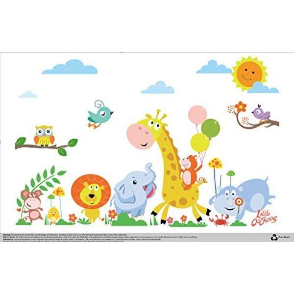 Safari Disposable Placemats for Table Top 60 Mats for Children Kids Toddlers Baby perfect to use as Restaurants Place mats BPA Free Eco Friendly Sticks to Table Avoid Germs Fun Designs Keep Neat Now! - intl