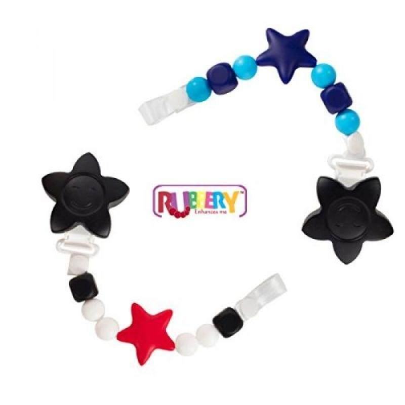 SALE 2 Black and Red Teether Toy Pacifier Clip Baby Girl or Boy Star Beaded Silicone Teething Toy and Pacifier Clip Light Blue Navy Black - intl Singapore