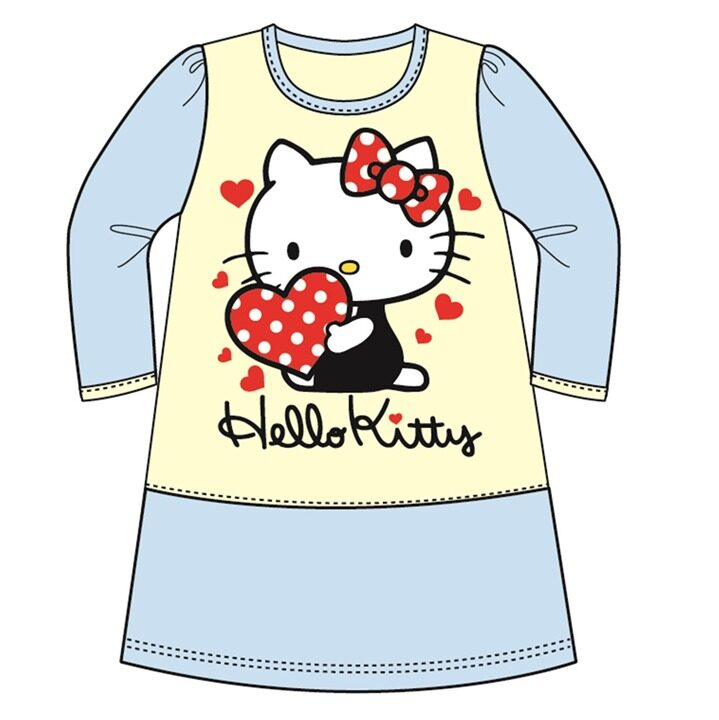 Sanrio Hello Kitty Casual Dress 100% Cotton 4yrs to 12yrs - Blue Colour