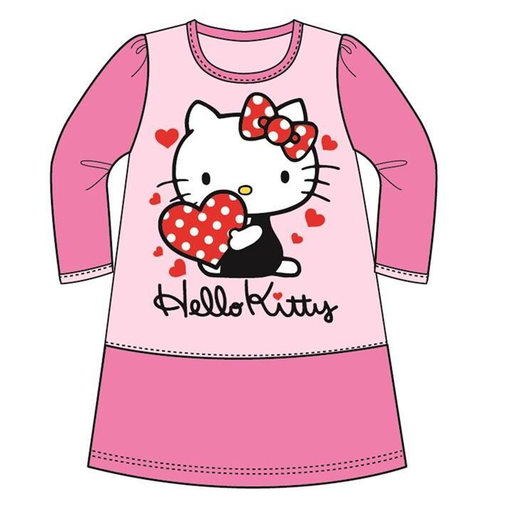 Sanrio Hello Kitty Casual Dress 100% Cotton 4yrs to 12yrs - Pink Colour