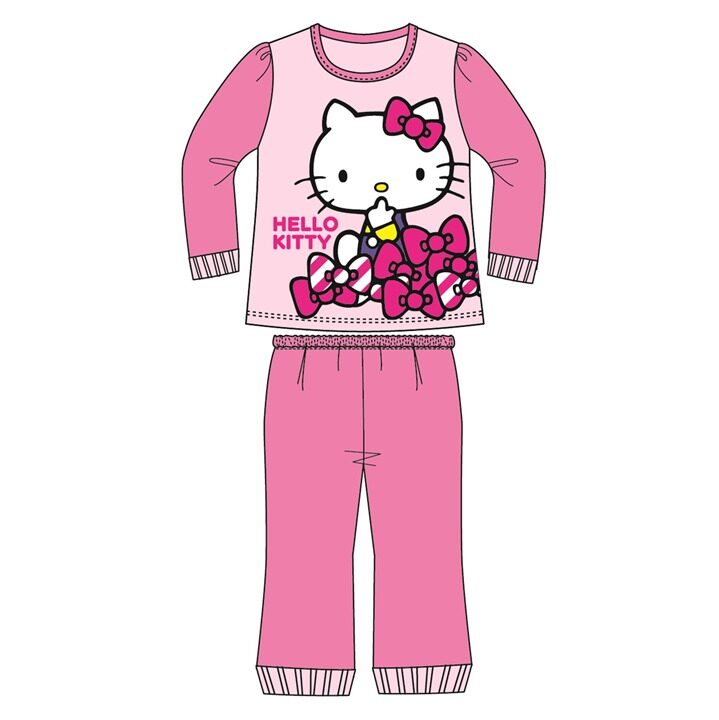 Sanrio Hello Kitty Casual Homewear 100% Cotton 1yrs to 5yrs - Pink Colour