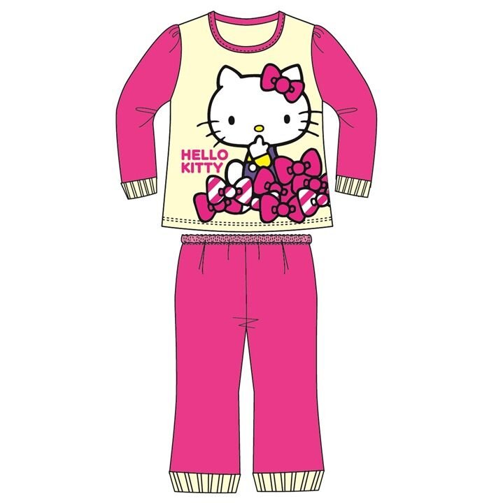 Sanrio Hello Kitty Casual Homewear 100% Cotton 1yrs to 5yrs - Yellow Colour