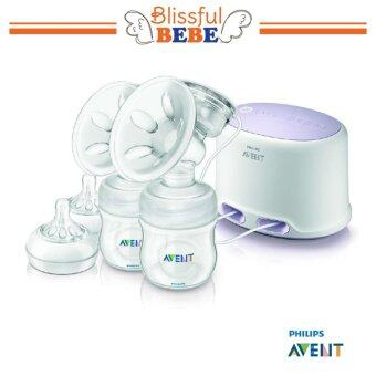 Harga SCF334/02 Philips Avent Natural Twin Electric Breast Pump Standard- STANDARD