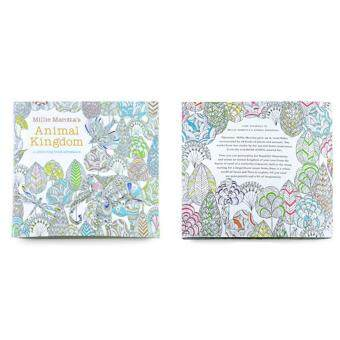 Secret Garden Anti Stress Coloring Painting Book For Kid Adult Animal Kingdom