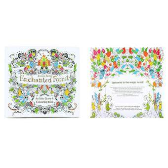 Secret Garden Flower Anti Stress Books Intellectual Coloring Painting Enchanted Forest