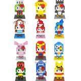 Set of 12 Cute Hello Kitty Loz Nano/Diamond Block Figure [Birthday Gift/DIY]