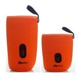 Set of 2 Baby Bottle Warmer Pouches: Fits 160ml and 240ml Bottles (1 Long, 1 Short) - Orange