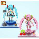Set of 2 Cute Hatsune Miku Series Loz Nano/Diamond Block Figure[Birthday Gift/DIY][New]