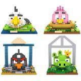 Set of 4 Cute Angry Bird/Birds Loz Nano/Diamond Block Figure/Figures (Set B) [Birthday Gift/Present]