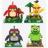 Set of 4 Cute Angry Bird/Birds Movie Series Loz Nano/Diamond Block Figure[Birthday Gift/Present/DIY]