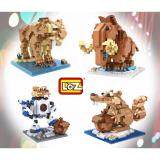 Set of 4 Cute Ice Age Series Loz Manny/Diego/Scratte Nano/Diamond Block Figure[Birthday Gift/DIY]