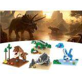Set of 4 Cute Jurassic Park Dinosaur Series Loz Nano/Diamond Block Figure[Birthday Gift/Present/DIY]