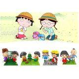 Set of 4 Cute Maruko-Chan/Maruko Chan Loz Nano/Diamond Block Figure[Birthday Gift/Present/DIY]
