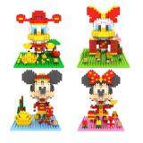 Set of 4 Cute New Year Mickey Series Loz Nano/Diamond Block Figure [Birthday Gift/Present/DIY]