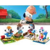 Set of 4 Cute Snoopy The Peanuts Movie Loz Nano/Diamond Block Figure [Birthday Gift/Present/DIY]