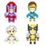 Set of 4 Cute X-Men/X Men Q Series [Wolverine/Magneto] Loz Nano/Diamond Block Figure[Birthday/DIY]