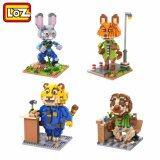 Set of 4 Cute Zootopia Series Loz Nano/Diamond Block Figure [Birthday Gift/DIY]