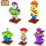 Set of 5 Cute Disney Toy Story/Woody/Alien/Etc Loz Nano/Diamond Block Toys Figure [Birthday Present]