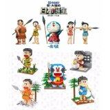 Set of 5 Cute Doraemon/Nobita And The Birth Of Japan Movie Loz Nano/Diamond Block Figure [Birthday]