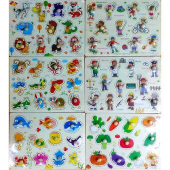 Harga (set of 6) Children Learning Board (Wooden)