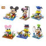 Set of 6 Cute Disney Mickey And Friends in Action Loz Nano/Diamond Block Figure[Birthday Gift & DIY]