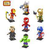 Set of 7 Cute Avenger Series Loz Nano/Diamond Block Figure [Birthday Gift/DIY][New]