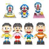 Set of 7 Cute Doraemon and Friends Loz Nano/Diamond Block Figure/Figures [Birthday Gift/Present/DIY]