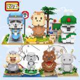 Set of 7 Cute Mashimaro and Friends Loz Nano/Diamond Block Figure [Birthday Gift/Present/DIY]