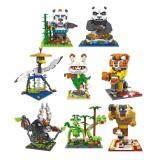 Set of 8 Cute Kungfu/Kung Fu Panda 3 Loz Diamond Building Block/Blocks[Nanoblock/Nanoblocks Compatible] [Birthday Gift/Present]