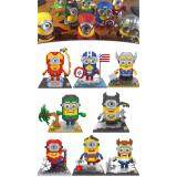 Set of 8 Cute Minion/Minions/Despicable me Superhero [Nanoblock/Nanoblocks Compatible] [Birthday Gift/Present]