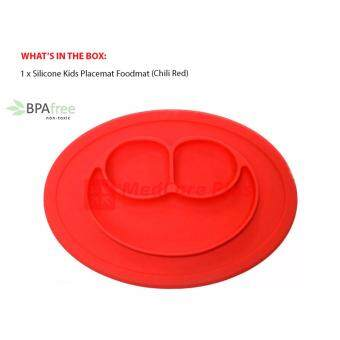 Silicone Baby Kids Placemat Foodmat Suction Plate (Chili Red)