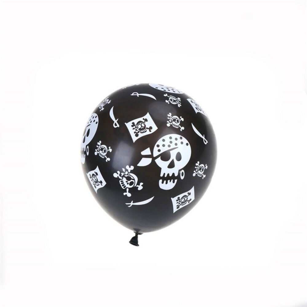 762b664d958 Simple 20pcs Halloween Balloon Pirate Skull Balloons Halloween Party  Decoration Props - intl