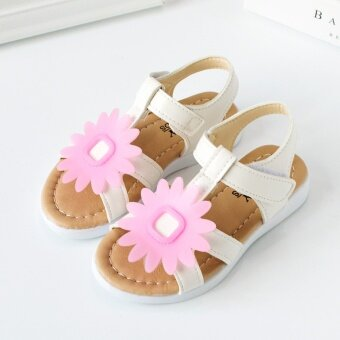 Small baby girls sunflowers sandals princess shoes Roman shoes