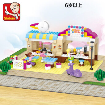 Small Lu Ban B 0530 happy puzzle Restaurant building blocks toys
