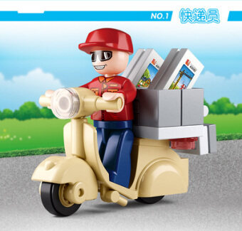 Small Lu Ban plastic children's Yi Zhi simulation assembled building blocks