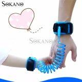 (RAYA 2019) SOKANO 1.5M Adjustable Kids Safety Anti-lost Wrist Band Toddler Harness Leash Strap- Blue