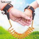 (RAYA 2019) SOKANO 1.5M Adjustable Kids Safety Anti-lost Wrist Band Toddler Harness Leash Strap- Orange