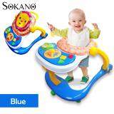 (RAYA 2019) SOKANO 3 in 1 Baby Walker, Baby Dining Seat cum Baby Toddler Walk Assistance - Blue