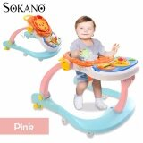 (RAYA 2019) SOKANO 3 in 1 Baby Walker, Baby Dining Seat cum Baby Toddler Walk Assistance - Pink