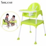 (RAYA 2019) SOKANO 3 in 1 Multipurpose Convertible Kid Dinning Seat cum Kid Study Table and Chair Set - Green