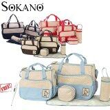 (RAYA 2019) SOKANO 5 in 1 Mummy Essential Diaper Bag- Light Blue (Free Home
