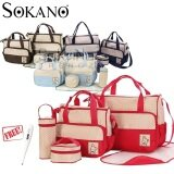 (RAYA 2019) SOKANO 5 in 1 Mummy Essential Diaper Bag- Red (Free Home Digital