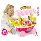 SOKANO BBQ Kid Pretend Play Set- Pink