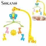 (RAYA 2019) SOKANO Bed Bell Baby Toy for Crib and Baby Cot with Wind Up Music Box - Design Giraffe (214)