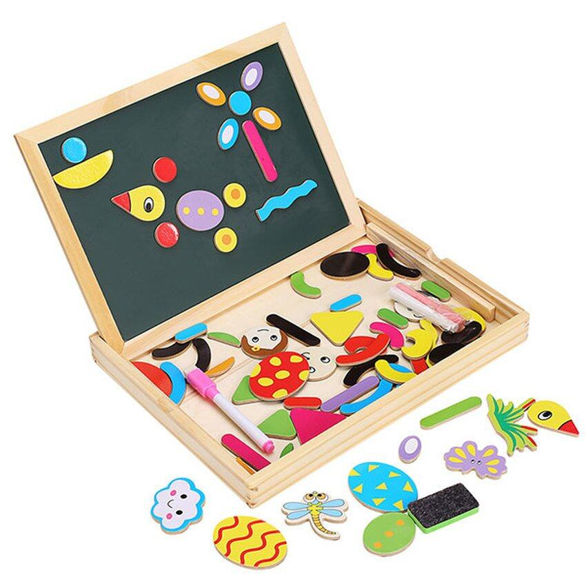 SOKANO Fantastic Easel Wooden Board with Magnetic Puzzles (Free