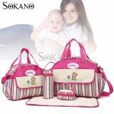 (RAYA 2019) SOKANO GANEN 6 Pcs Set Mummy Fashion Tote Bags- Rose Red
