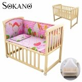 (RAYA 2019) SOKANO HA222 Single Tier 3 in 1 Natural Paintless Nontoxic Easel Wooden Baby Cot and Cradle
