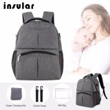 (RAYA 2019) SOKANO Insular 10016 Baby Diaper Bag Mummy and Daddy Backpack - Grey