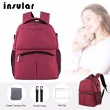 (RAYA 2019) SOKANO Insular 10016 Baby Diaper Bag Mummy and Daddy Backpack - Red